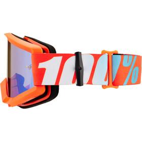 100% Strata Goggles, orange-mirror